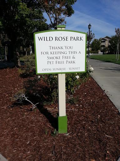 Wild Rose Park Sign: Ingress portal