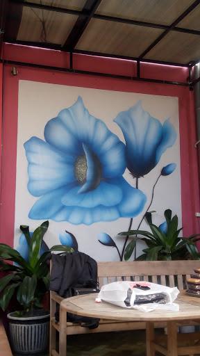 Lukisan Tembok Gambar Bunga Ingress Portal